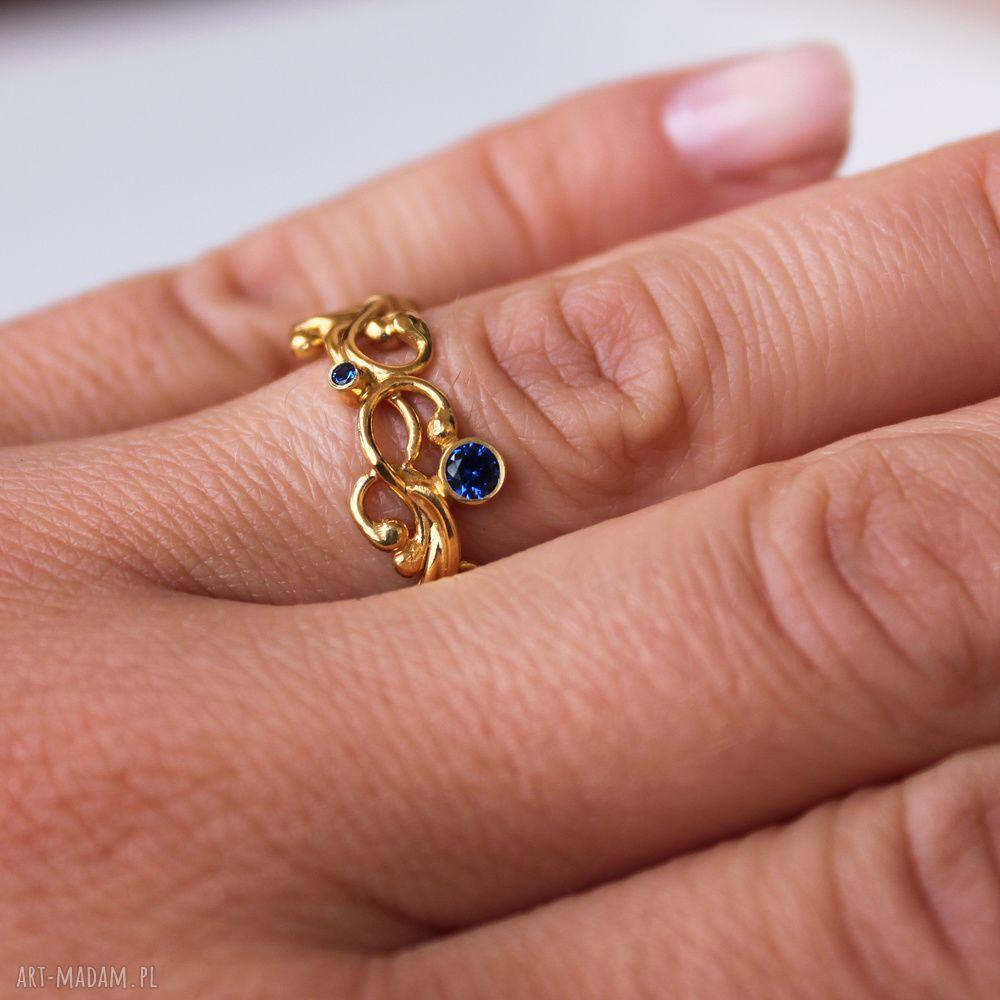 złote pierścionki pozłacany złota szarfa