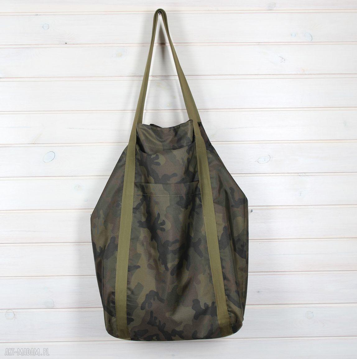na ramię nieprzemakalna pojemna torba moro xxl