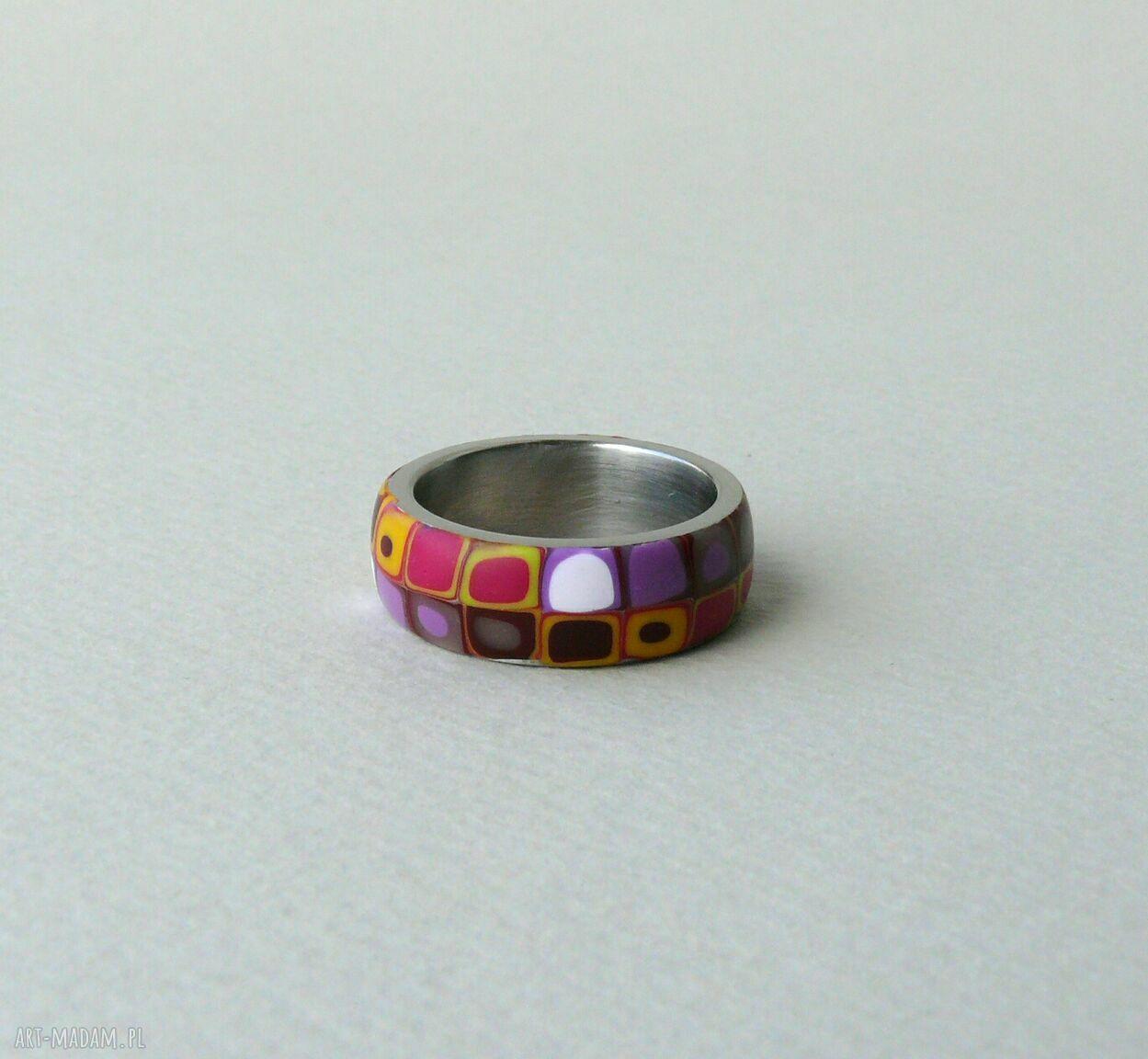 unikalne obrączki kolorowa obrączka, stal z polymer