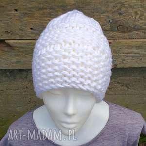 czapka kelowna - czapka, zimowa, gruba, wełniana, dzirgana, prezent