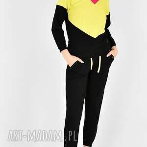 komplet dresowy wirginia czarny, dres, bluza, spodnie, komplet, bluzka