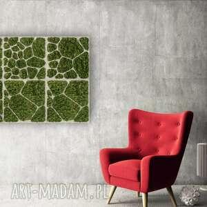 dekoracja ścienna - obraz z mchem cell #61, panel, obraz, dekoracja, mech, rdza