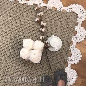Dywan z koronką kwadrat II 100x100, dywansznurkowy, dywanik, chodnik