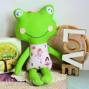 maly koziolek żabka - super przyjaciółka tosia 45 cm, żabka, baletnica