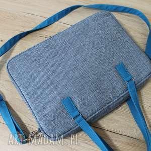 Torba na laptop - ciemna niebieska torebki niezwykle elegancka