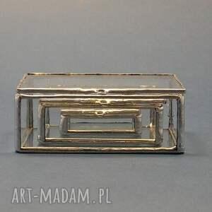 mini szkatułki, szkatułka, rękodzieło, ślub, tiffany, szkło, minimalizm