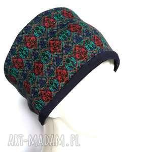 opaska damska szeroka we wzory etno boho handmade, opaska, etno, boho, folk, wzory,