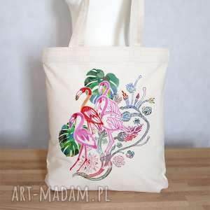 eko torba na zakupy bawełniana FLAMINGI, torba, ekologiczna, eko, bawełna, płócienna