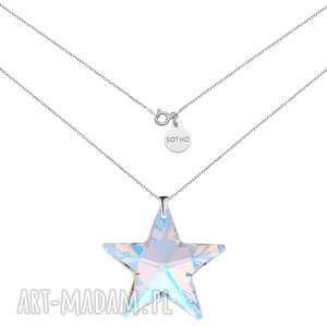 sotho srebrny naszyjnik z dużą gwiazdą swarovski® crystal