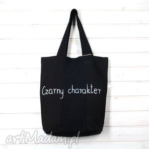 Prezent Torba Czarny charakter , torba, napis, prezent, denim, jeans