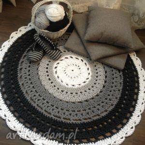 dywan crazy grey, dywan, szydełko, sznurek, rękodzieło, crochet dywany, wyjątkowy
