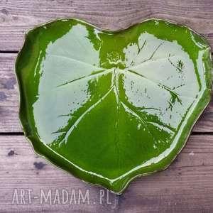 Patera ceramiczna LIŚĆ, patera, liść, talerz, ceramiczny, leaf, plate