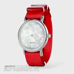 zegarek, bransoletka - szary czerwony, nato, bransoletka, nato