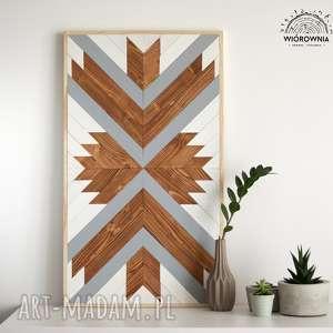 dekoracje drewniany panel dekoracyjny - mozaika, drewniana, panel, ścienny, mozaika