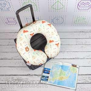 Prezent Poduszka Podróżna Misie Tipi , poduszka, podróżna, rogal, zagłówek