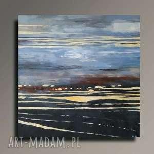 ABSTRAKCJA -obraz akrylowy formatu 40/40 cm, abstrakcja, płótno, akryl