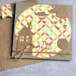 Na parapetówkę:: kartka handmade:: nowy dom kartki kaktusia