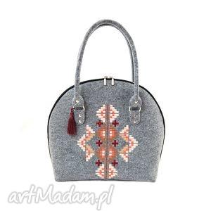 hand-made na ramię torebka filcowa ornament 325