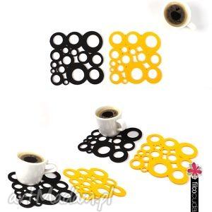Podkładki filcowe pod kubek Bubbles 6 szt. , podkładka, filcowa, filc,