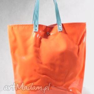 torba neon orange blue - mana-mana, pomarańcz, folia, pojemna, nowoczesna