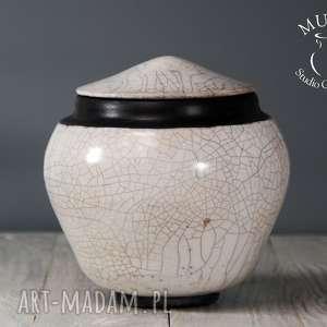 ceramika pojemnik raku, ceramika, pojemnik, glina, krakle