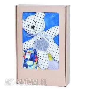 maskotki prezent z okzaji narodzin komplet niemowlaka colored triangles