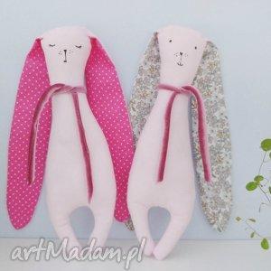 króliczek przytulaczek - ,królik,różowy,króliczek,simple,maskotka,zabawka,