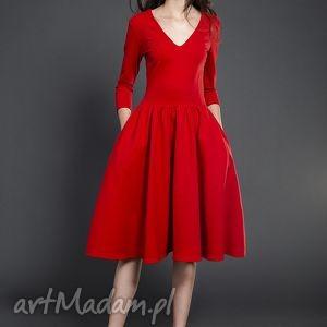 ręcznie zrobione sukienki rozkloszowana sukienka midi