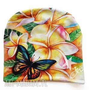 katarzyna staryk czapka plumeria, bali, motyl, motylki