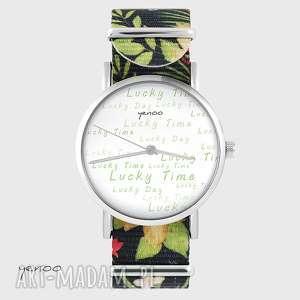 zegarek - lucky day kwiaty, nato, zegarek, bransoletka, lucky, unikatowy