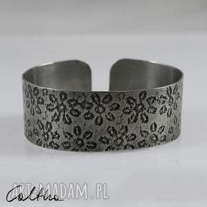 *Kwiatuszki - metalowa bransoletka, bransoleta, metalowa, srebrna