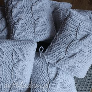 ręczne wykonanie poduszki poduszka tedy white