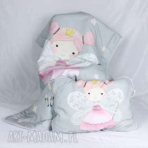 wróżki zestaw do łóżeczka kocyk i płaska poduszka, wróżki, łóżeczko, niemowlę
