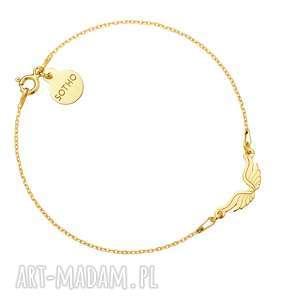 hand made bransoletki złota bransoletka ze skrzydełkami