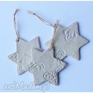 ceramika zawieszki świąteczne śnieżynki, zawieszka, święta, świąteczne, gwiazdka