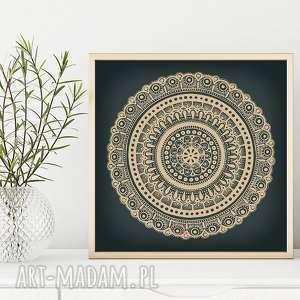 Mandala 50x50cm malgorzata domanska plakat, mandala, etno, folk