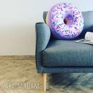 poduszka pączek donut xxl duży jagodowy, poduszki, pączek, dla dzieci