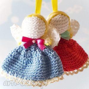 Upominki na święta! 2 aniołki na choinkę dekoracje cat a needle