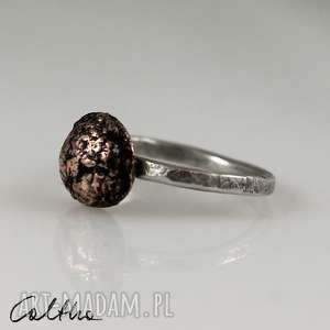 srebro z miedzią - pierścionek rozm 10 180204-05, pierścionek, pierścień