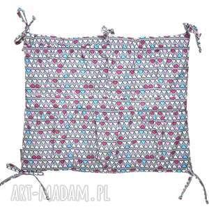 handmade pokoik dziecka organizer do łóżeczka kolorowe serduszka