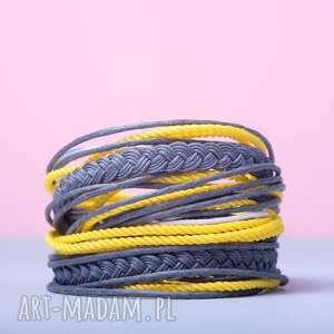 WHW Big Mess - Yellow Stone, sznurkowa, sznureczkowa, zwijana, zawijana, kolorowa