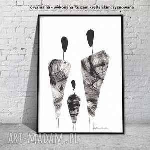 nowoczesna grafika czarno-biała minimalizm, obraz abstrakcyjny 21x30 a4