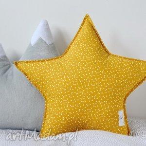 poduszka gwiazdka miodowa, poduszka, gwiazdka, gwiazda, miodowy, musztardowy, scandi