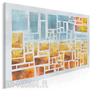 obraz na płótnie - abstrakcja słoneczny żółty pomarańczowy 120x80 cm 94801