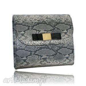 ręcznie wykonane torebki koperta i listonoszka z kokardką - klasyczna siwy