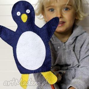 Filcowa pacynka pingwin franek - maskotka do kreatywnej zabawy