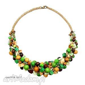 green and brown - orzechowy, kawowy, pleciony, eko, ekologiczny, naturalny