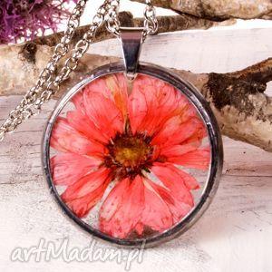 naszyjniki naszyjnik z suszonymi kwiatami terrarium 5,5cm tiffany 1107