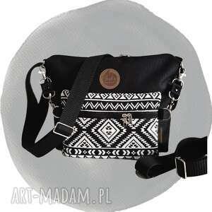 torebki torebka modułowa black 4w1 - aztec, modułowa, aztecki wzór, mała