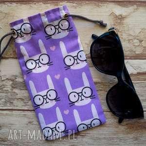 Prezent Etui / bawełniany woreczek na okulary, etui, słoneczne, serduszka